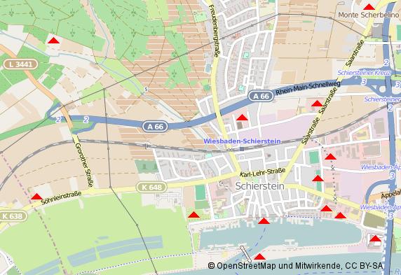 Karte der Altlasten und Verdachtsflächen